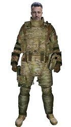Multicam Size S Set Of Gear Protection Vest And Leg And Arm Bulletproof Pads