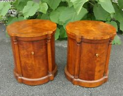 Pair Of Vintage Heritage Round Top Cabinets/bedside Tables
