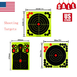 8and039and039/12/14.5and039and039 Self-adhesive Paper Shooting Targets Reactive Splatter Hunting Us