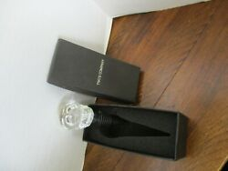 Two's Company Clear Skull Bottle Stopper -- New In Box