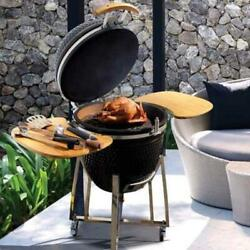 Ceramic Kamado Charcoal Grill Bbq And Smoker Egg Versatil Outdoor 3 In 1