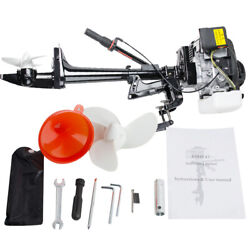 3.6hp 4stroke Heavy Duty Outboard Motor 55cc Boat Engine+air Cooling System Good