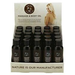 Hemp Seed Massage And Body Oil - Scented Massage Oils - Counter Display Of 25 X...