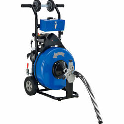 New Drain Cleaner For 4-9 Pipe, 200 Rpm, 100' Cable