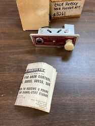 Vintage 1960and039s Cole Hersee Dash Emergency Light Flash Unit Light Switch Nos 521