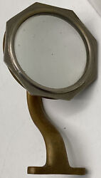 Antique Brass 1920's 1930's Outside Rear View Mirror Chevrolet Ford Dodge Ratrod