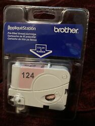 Brother Applique Station Pre Filled Thread Cartridge 124 Pink- New