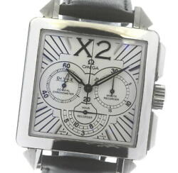 Auth Omega Watch De Ville X2 Co-axial Chronograph 423.13.37.50.02.001 At 37mm