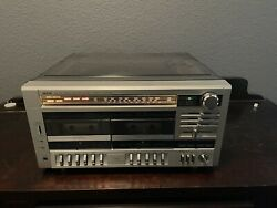 Vintage Sears Stereo Turntable Double Cassette Player Recorder 304.91846350 Read