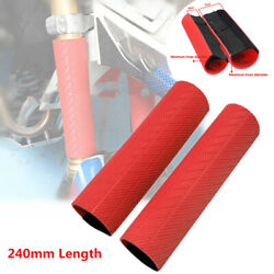 24cm Motorcycle Off Road Fork Rubber Dust-proof Cover Gaiters Boots Waterproof