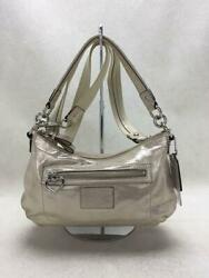 Coach F20455 Wht White Fashion Shoulder Bag 1919 From Japan