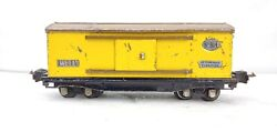 Rarer Lionel Trains 814 Automobile Furniture Boxcar Yellow W/ Brown Roof O Scale