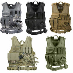 Rothco Cross Draw Molle Tactical Vest - Black,acu Digital,coyote,multicam,od