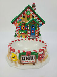 2004 Dept 56 Mandmand039s Candy Store Lighted House And Dish Christmas Village Used
