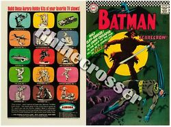 Batman 189 Beautiful Reproduction Cover Only W/orig Ads Dc 1st Sa Scarecrow