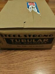 Vintage Steel Strong Paper Coin Wrappers T25 2 Nickels Tubes Rollers
