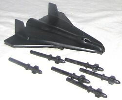 Marx Reissue Space Moon Ship + 6 Missiles From Old Playsets    D