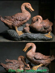 22 Chinese Porcelain Pottery Dynasty Palace Duck Quack-quack Family Sculpture