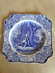 Crown Ducal Blue And White George Washington Valley Forge 1732-1932 Sa Lunch Plate