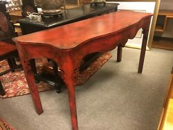 Minton Spidell Red Asian Style Console Table
