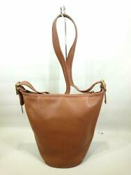 COACH Bucket Type Leather 9953 Leather Ocher Fashion shoulder bag From Japan $252.25