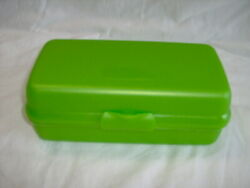 Tupperware Rect. Sandwich Submarine Hoagie Container 3755 Toys Craft Crayon Grn