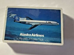 Sealed Vintage Alaska Airlines Playing Cards Stardust 'happy Face'