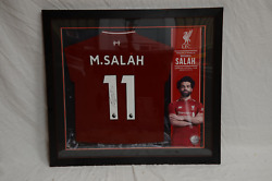 Mohamed Salah Authentic Hand Signed Lfc Jersey Frame Liverpool Football Club