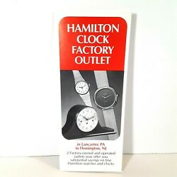 Hamilton Clock Factory Outlet Brochure Vintage Pennsylvania and New Jersey