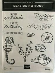 Stampin' Up New Seaside Notions 11 Stamps Set -rubber/cling-nautical Set/phra