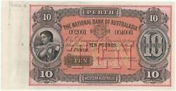 National Bank Of Australasia Perth 1893 Ten Pounds Unissued Specimen Note Mvr