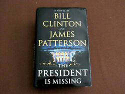 Bill Clinton James Patterson Signed Auto President Is Missing 1st Ed. Book Jsa