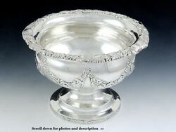 Antique 1819 Early Kirk Coin Silver Compote Raised Serving Dish 8