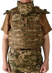 Body Armor Plate Carrier Vest Molle Soft Insert Iiia Made With Kevlar