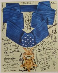 Incredible Medal Of Honor Photo Signed By 46 Recipients