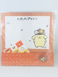 Sanrio Pom Pom Purin Letter Set W/stickers And Button 1998 New Japan Stationary