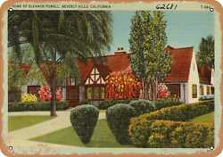 Metal Sign - California Postcard - Home Of Eleanor Powell, Beverly Hills, Calif