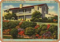 Metal Sign - California Postcard - Home Of Jane Withers, Westwood, Calif.