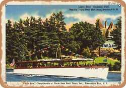 Metal Sign - New York Postcard - Uncle Sam Compliments Of Uncle Sam Boat Tours