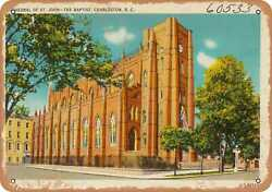 Metal Sign - South Carolina Postcard - Cathedral Of St. John -- The Baptist Ch