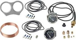 Model A Ford Oil Pressure And Temperature Gauge Kit - Fits Round Speedometer - Mid