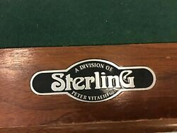 Authentic Peter Vitalie Custom Crafted Professional 8 Ft. Pool Table