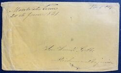 20 June 1861 Interim Independent/confederate East Tennessee Civil War Mail Cover