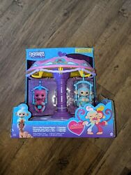 Fingerlings Twirl-a-whirl Carousel Playset Includes Abigail Baby Monkey Wowwee
