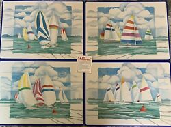 """Pimpernel Sailboat Placemats Lot Of 4 """"free Shipping"""""""