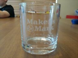 Makers Mark Etched Kentucky Bourbon Whiskey Low Ball Rocks Glasses 8 Oz