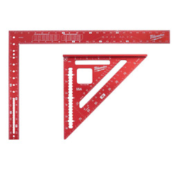 24 Inch Aluminum Framing Square With 7 In. Rafter Square Durable And Thicker