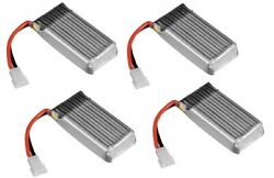Ares Spectre X H107-a24 Battery 3.7v 380mah 25c Li-po Rc 20mm X 39mm 4 Pack