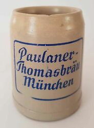 Mug With Beer Stoneware Paulaner-tents M. Oenchen 50 Cl Nos 510