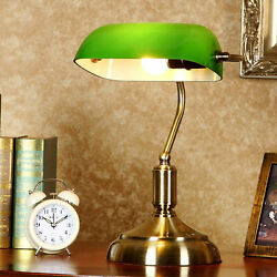 Classic Style Desk Lamp Vintage Green Glass Shade Piano Table Light New